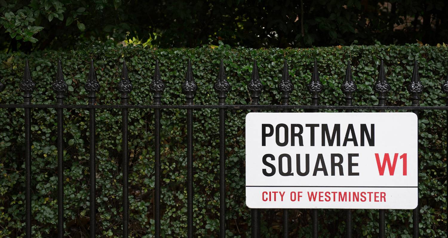 Helmsmen Street sign for Portman Square